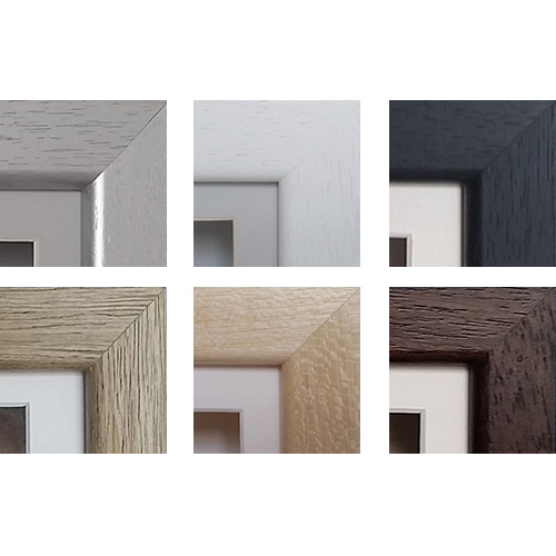 Luxury Hardwood Frame Colours - Silver, White, Black, Oak, Natural and Chocolate