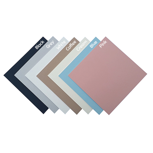 Mount colours - Black, Grey, White, Coffee, Cream, Blue and Pink