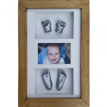 Deep 16x10'' Triple Photo Frame Baby Casting Kit