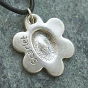 Double-sided Chunky Necklace Fingerprint Charm