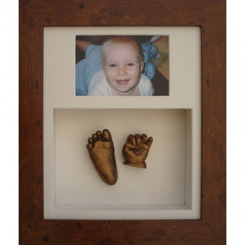 Deep 12x10'' Double Rustic Brown Frame