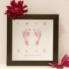 Square Button Hand/Footprints Frame - 1 Child