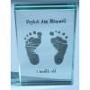 Small Hand/Footprints Chunky Glass Frame - 6x4
