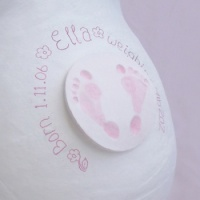 Deluxe Baby Footprints Belly Casting Combo (Kit & Decor Pack)