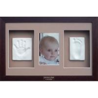 Classic 16x10'' Triple Photo Frame Clay Impression Kit