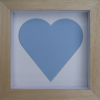 Contemporary 8x8'' Square Natural Heart Frame