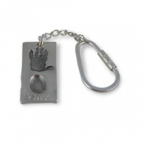 Double-sided Rectangular Chunky Footprint Keyring - 3 or 4 Prints