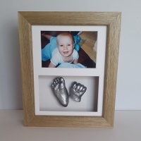 Luxury Hardwood 10x8'' Double Oak Frame