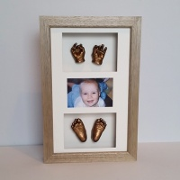 Luxury Hardwood 16x10'' Triple Oak Frame
