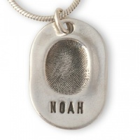 Classic Charm Fingerprint Necklace
