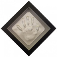 OPT39 - 8x8'' Square Frame - 1 Raised Impression - 1 hand