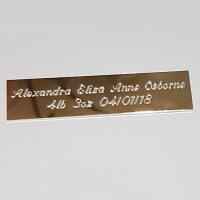 Engraved Name-plate