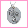 Oval fingerprint charm