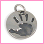 Round fingerprint handprint charm