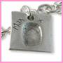 Square shaped fingerprint charm