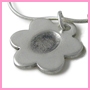 Flower fingerprint charm
