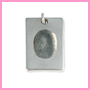 Rectangular fingerprint charm