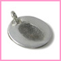Oval-shaped fingerprint charm