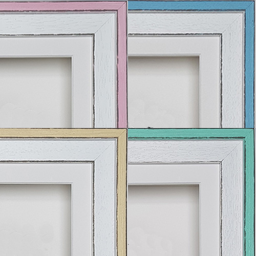 Coastal Frame Styles - Pink, Blue, Lemon & Mint