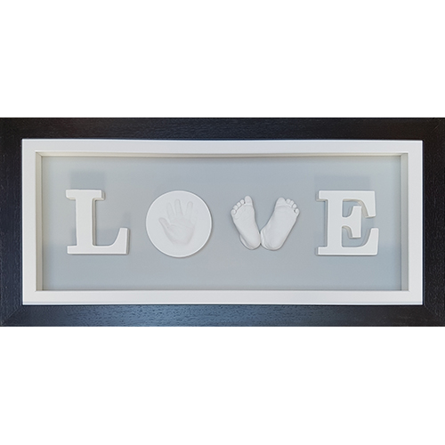 Deep Black LOVE frame with White front mount and Grey back mount