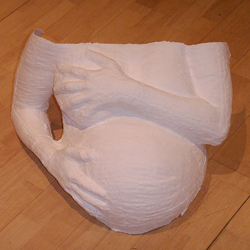Belly cast with hands