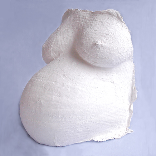 Undecorated pregnant belly cast