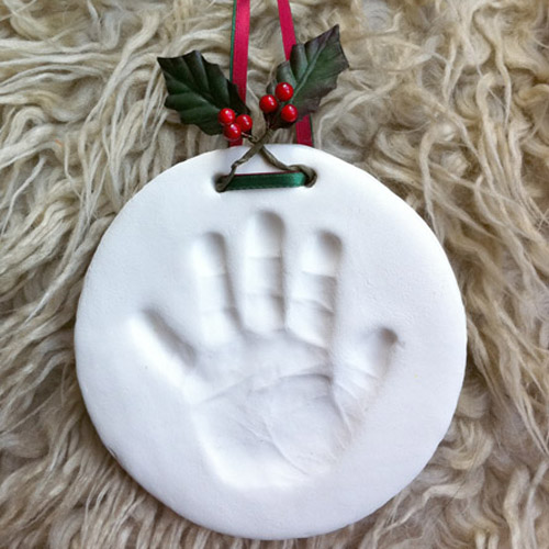 Christmas decoration handprint
