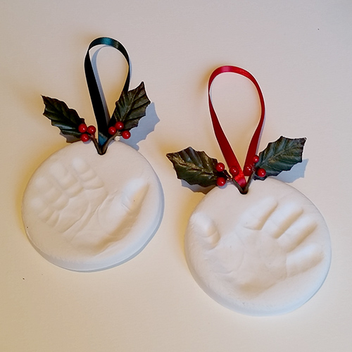 Christmas decoration clay handprint kit
