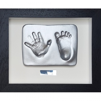 OPT34 - Contemporary 10x8'' Single frame - 2 Clay Hand/Foot Impressions - About £70
