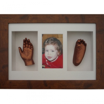 Deep 16x10'' Triple Rustic Brown Frame