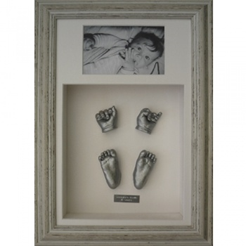 Deep 16x10'' Double Distressed Waterfall Frame