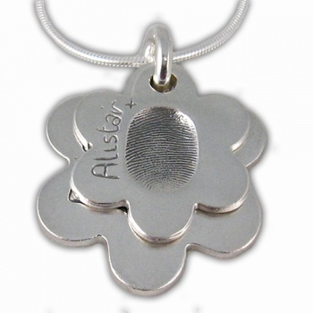 2 Descending Classic Charms Fingerprint Necklace - Small & Medium