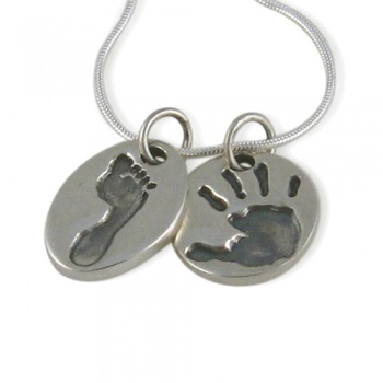 Classic Footprint Charm Necklace