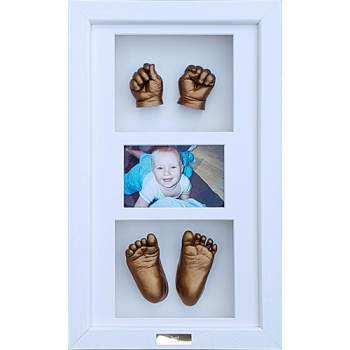 Luxury Hardwood 18x10'' Triple White Frame