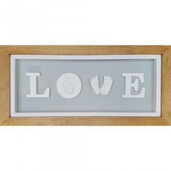 Deep 26x11'' Cottage Oak LOVE Frame (with pine box)