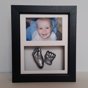 OPT18 - 10x8'' Double Photo Frame - 1 Hand & 1 Foot - About £115-£130
