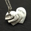 4 Descending Classic Charms Fingerprint Necklace