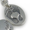 Chunky Footprint Charm Necklace