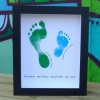 Medium Coloured Hand/Footprints Frame - 2 Siblings