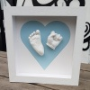 Contemporary Square Heart Frame Baby Casting Kit