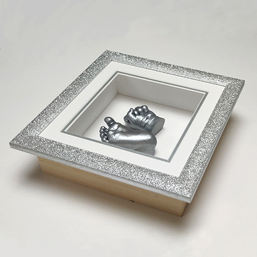 Glitter 8x8 Quot Square Silver Frame Everlasting Castings