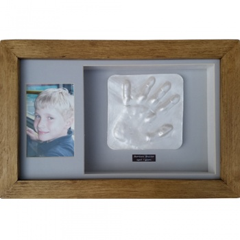 OPT38 - 16x10'' Double Frame - 1 or 2 Raised Impressions - Hands or Feet - About £95