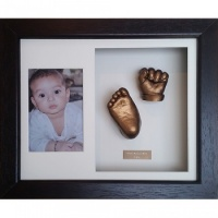 Luxury Hardwood 12x10'' Double Dark Chocolate Frame