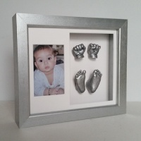 Luxury Hardwood 12x10'' Double Silver Frame
