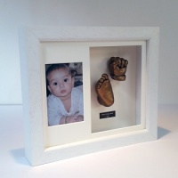 Luxury Hardwood 12x10'' Double White Frame