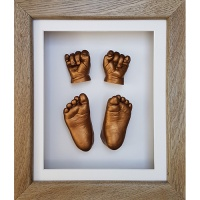 Luxury Hardwood 12x10'' Single Oak Frame