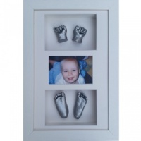 Deep 16x10'' Triple White Frame