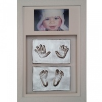 OPT32 - Contemporary 16x10'' Double Frame - 4 Raised Impressions - 2 Hands & 2 Feet - About £155
