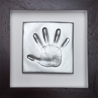 OPT41 - Contemporary 8x8'' Square Frame - 1 Clay Hand Impression - About £50