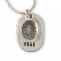 Classic Necklace Fingerprint Charm